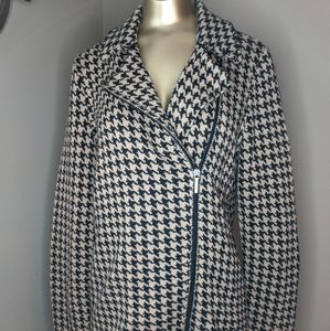 Chaps Houndstooth Sweater Jacket